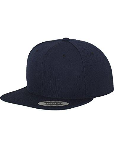 Flexfit Classic Snapback Cap, Mütze Unisex Kappe für Damen und Herren, One Size, Farbe navy (Fit Baseball-cap Ein)