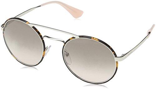 Prada 0pr51ss 2au4k0 54, occhiali da sole donna, argento (silver/dark havana/pinkgradientgrey)