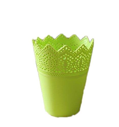weimay 1pieza y encaje de maceta jarrón pincel maquillaje escritorio organizadores, Verde,...