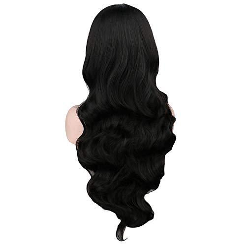 Blonde cosplay wellig lange lila schwarz weiß blau rosa rot orange grau streifen 87cm kunsthaar perücke -