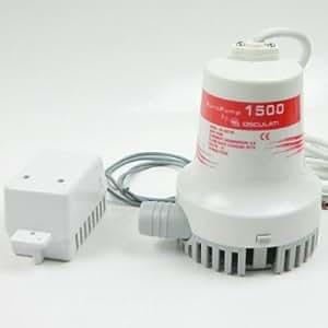 12 V bilgepumpe 5760 l/h-diamètre 29 mm avec interrupteur flotteur