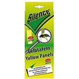 Fliegenfänger Silence Gelbtafeln 6 Tafeln Kunststoff-Klebetafeln für Aussen- und Innenbereich