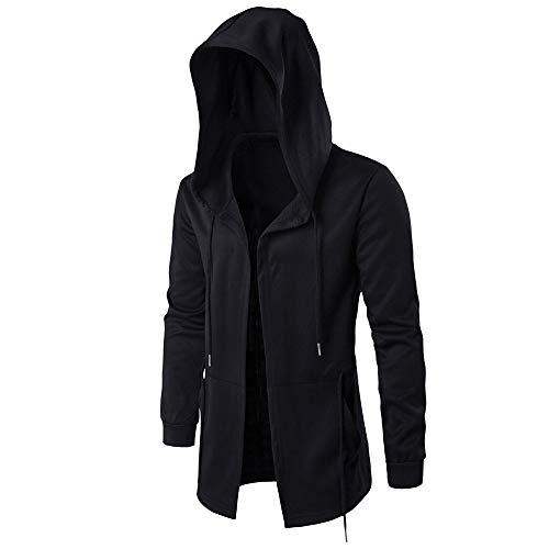 Beikoard Herren Kapuzenpullover Herbst Winter Casual Pocket Hoodies Trench Langarm Outwear Mantel Unregelmäßiger Strickmantel