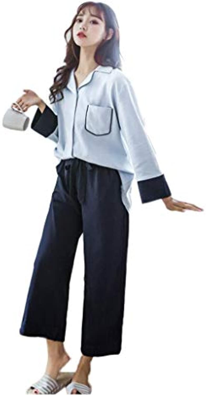 ... Xing Hua da home Pigiama da Hua Donna a Maniche Lunghe Vestito a Due  Pezzi 5715bfd81b9