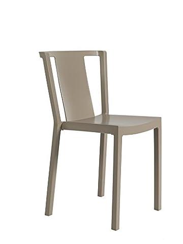 Resol chaise Neutra - couleur taupe, set de 2 unités
