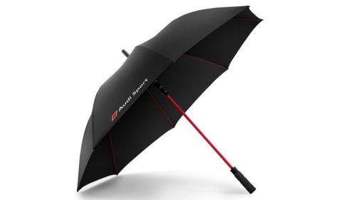 Original Audi Sport Paraguas bastón pantalla pantalla grande negro