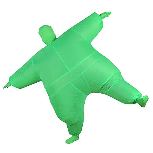 Grüne Haut Anzug Kinder Kostüm - Aufblasbares Fett Dick Kleid Fasching Zweite