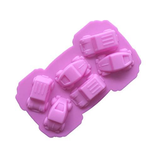 Doitsa - 1 Molde para colación Infantil con 6 cavidades en Forma de Coche para fabricación de postres...