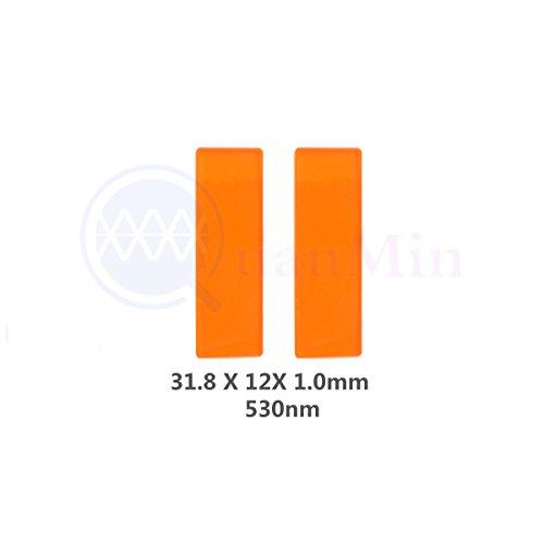 31,8 mm×12 mm×1,0mm 530nm IPL Filter Square Optische Multi-Beschichtung Schmale Longpass Filter für Medizinische Geräte und Mikroskop Fluoreszenz Filter ()