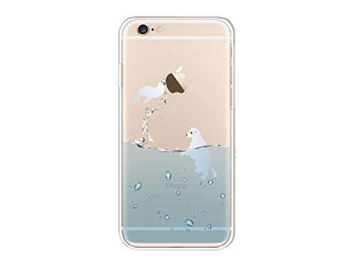 YiFeng Coque en silicone transparent pour iPhone 6/6s Motif animal, Silicone, Flying Seal, iPhone 6 / 6s