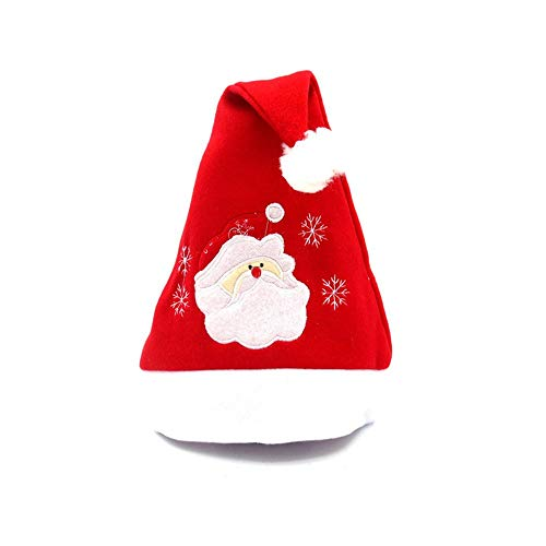 ODJOY-FAN Weihnachtsmann Hut Weihnachten Party Rot Blau Hüte Deckel Unisex Gedruckt Mützen Kostüm SAMT Caps Neuheit Winter (40cm*29cm)(C,1 ()