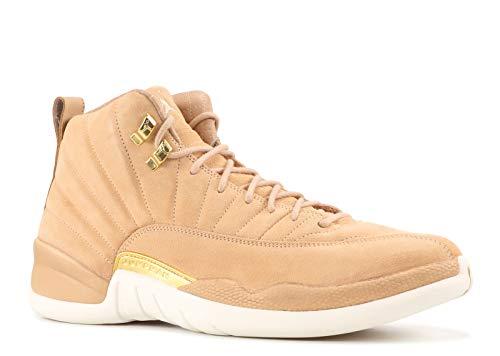 Nike Damen WMNS Air Jordan 12 Retro Fitnessschuhe, Mehrfarbig (Vachetta Tan/Metalli 203), 38.5 EU