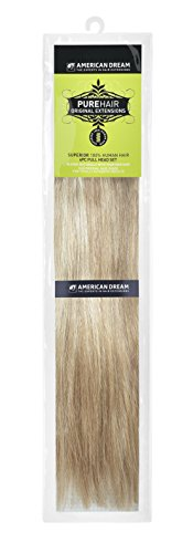 American-Dream-Human-Hair-Full-Head-Set-of-Clip-in-Extensions-Ombre-Medium-Ash-Brown-Beach-Blonde-Number-1022-105-g-18-inch-46-cm-4-Piece