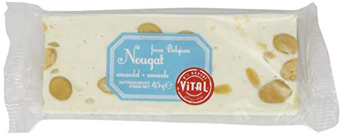 Vital Soft Nougat Bar with Almonds 45 g (Pack of 12)