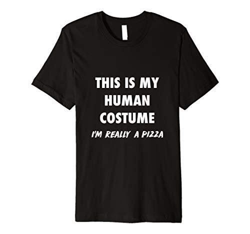 (Echthaar Kostüm, Ich bin wirklich eine Pizza DIY Halloween-Kostüm Geschenk)