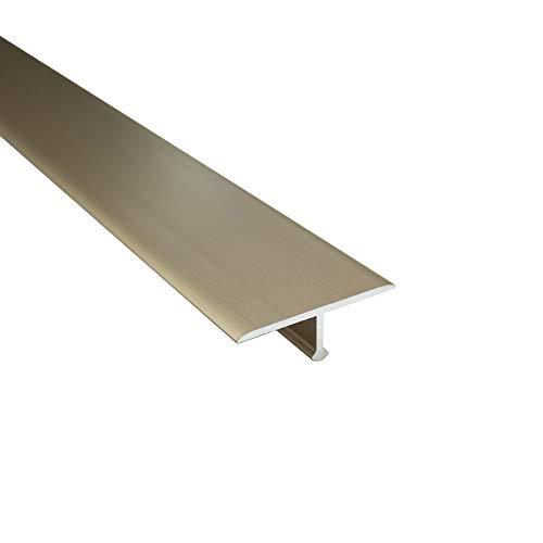 Alu T-Profil Übergangsschiene Übergangsprofil Laminat silber gold L90cm 27mm gold