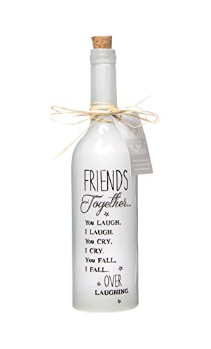 Starlight Bottles Friends Together, Glas, Weiß, 6.70 x 6.70 x 29.50 cm