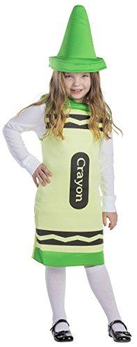 Dress Up America Kinder Grün Buntstift Kostüm (Kostüm Buntstifte)