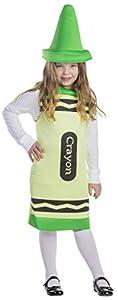 Dress Up America Disfraz de crayón Verde para niños