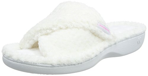 Isotoner Ladies Popcorn Open Toe Slipper, Chaussons Bas Femme