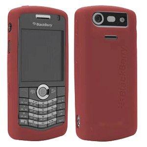 Blackberry gummiert Skin für 8100, 8110, 8120und 8130Pearl (Dark Red) 011 Blackberry