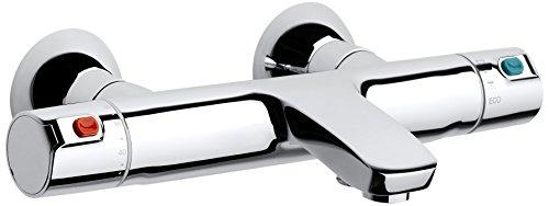 Roca Victoria-T - grifo termostático exterior para baño y ducha con desviador-regulador de caudal para baño y ducha . Griferias hidrosanitarias termostaticas. Ref. A5A2A18C00