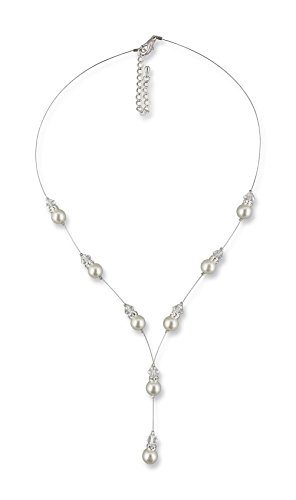 Rivelle Damen Y Perlenkette Maja Creme Kette Perlen Collier Halskette Necklace Modeschmuck Hochzeit