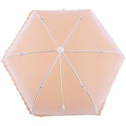 SUNSKYOO 24-Zoll-Weiß-Food-Netzabdeckung wiederverwendbare Nylon Mesh faltbare Schale Abdeckung Regenschirm