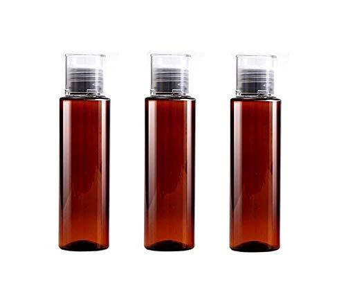DierCosy 3pcs 100 ml / 3,3 Unzen Leere nachfüllbare Plastik Toner Lotion Cleanser Flasche Jars Reise Cosmetic Vorratsbehälter (braun)