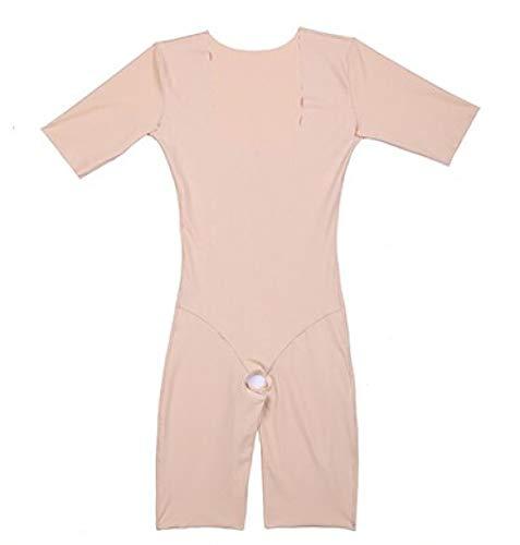 Nahtlose Kontrolle Leibchen (GOWINEU Ganzkörperanzug für Damen, Oberschenkel, offener Oberkörper, Shapewear mit Ärmel, Tank, ouvert, Body Shaper)