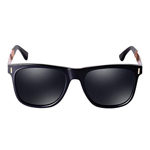 HBLWX Retro polarisierte Sonnenbrille, Mode großen Rahmen weiblichen polarisierten Spiegel für UV-Schutz 400 Fahren im Freien Sport