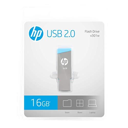 HP V301W USB 2.0 16GB Pen Drive (Grey)