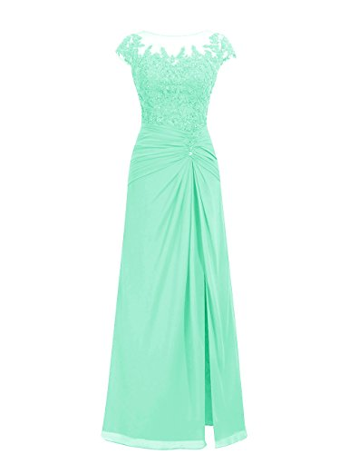 Dresstells Damen Abendkleider Bodenlang Homecoming Kleider Brautjungfernkleider Mintgrün