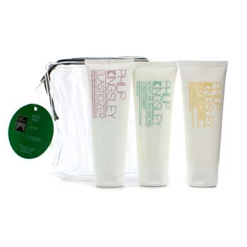 Body & Shine Jet Set: Shampoo 75mililitr + Conditioner 75mililitr + Elasticizer 75mililitr - 3pcs - Philip Kingsley Body