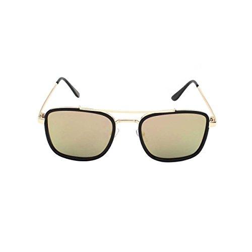 DFFDD Koreanische Reflektierende Sonnenbrille Männer Großzügiger Kasten Mehrfarbenwahlweise,E
