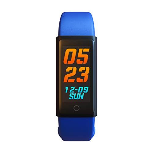 WLH Fitness Tracker Uhr Mit Herzfrequenzmesser Wasserdicht,Blue