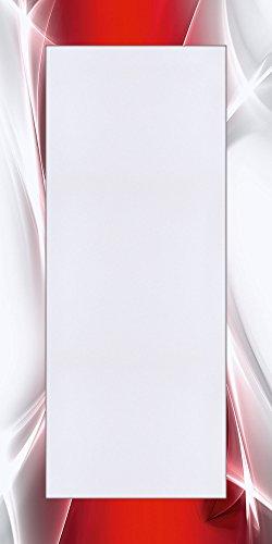Artland Qualitätsspiegel I Spiegel Wandspiegel Deko Rahmen mit Motiv 60 x 120 cm Abstrakte Motive Gegenstandslos Digitale Kunst Rot G5RO Kreatives Element Rot