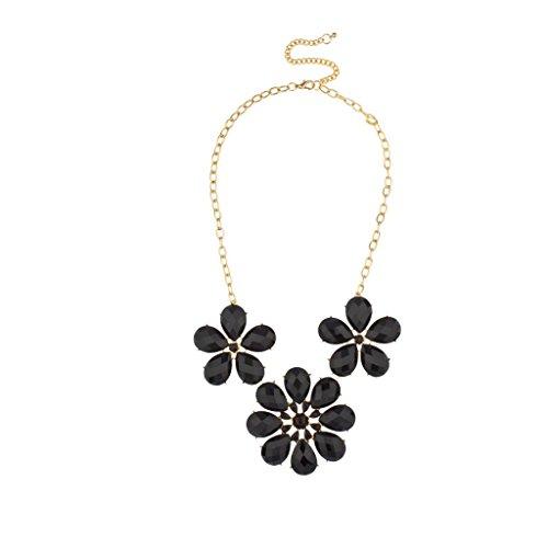Lux Accessories - Florales Design Statement-Halskette (Großhandel Modeschmuck Top)