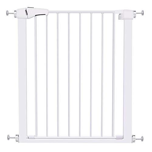 Infantastic Türschutzgitter Baby 180 ° Zwei-Wege-Tür (weiß 63-70CM / 75-82CM) (Size : 63-70CM)