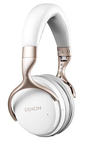 Denon AH-GC25W - Cuffie audio Hi-Res wireless, colore: Bianco