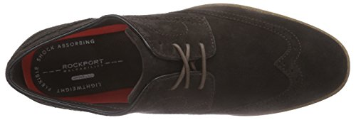 Rockport Business Lite Wing, Brogues homme Marron (Dk Bitter Chocolate)