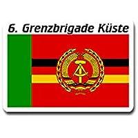 Adesivi/adesivi–6BRIGATA di frontiera Typ2gbrk costiere Grenztruppen forze armate DDR Repubblica Democratica Tedesca Mare Marine militare Stemma distintivo Emblem 10x 7cm # A4235