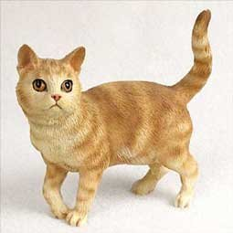 Standing Orange Tabby Cat Figurine by Conversation Concepts