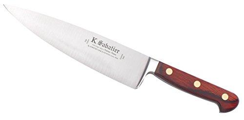 K Sabatier - Cuisine 21 Cm K Sabatier - Gamme Auvergne - Acier Inoxydable - Manche Bois - 100% Forge - Entièrement Fabrique En France