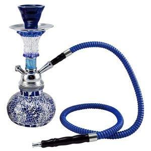 Shisha Wasserpfeife Mosaik 1 Schlauch Farbe blau
