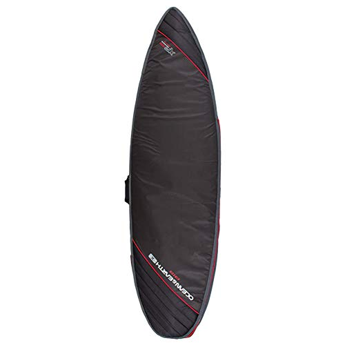 Ocean and Earth Aircon Heavy Weight Shortboard Surfboard Bag 7ft Black Light Red