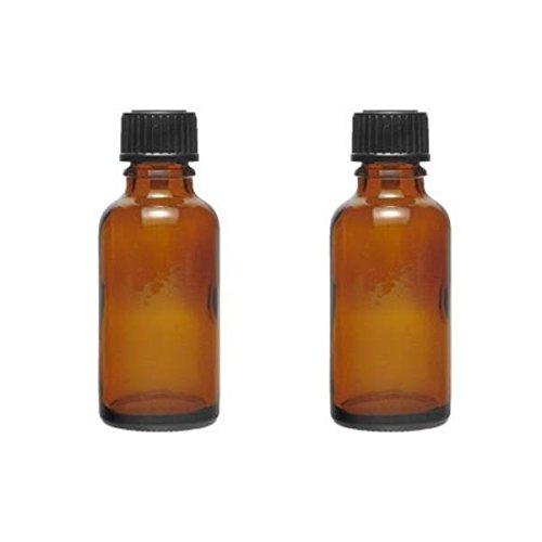 2 x Tropfflasche 30 ml Medizinflaschen aus Braunglas made in germany BPA-frei inkl. 2 Beschriftungsetiketten -