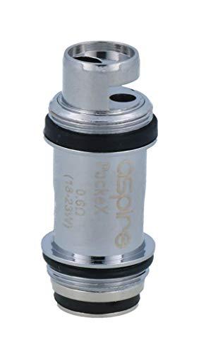 Aspire PockeX 0,6 Ohm Verdampferköpfe- für das PockeX E-Zigaretten Set geeignet - 5 Stück pro Packung