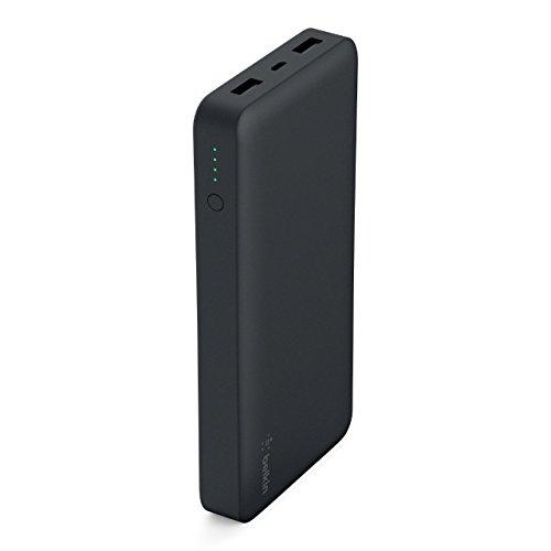 Belkin Pocket Power Bank - Batería Externa portátil de 15000 mAh (con certificación de Seguridad para iPhone XS, XS MAX, XR, X, 8, 7, 6, 5, iPad, Samsung Galaxy Note 9/S9/S8/S7), Negro