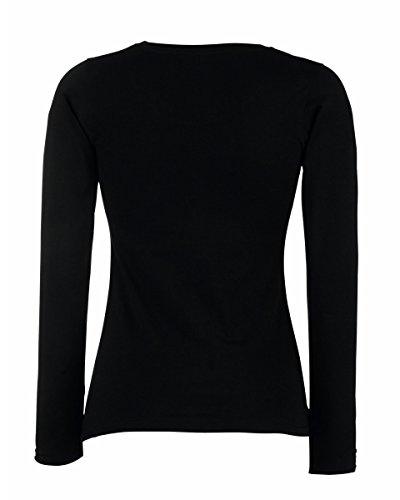 Fruit of the Loom, T-Shirt Femme Noir - Noir
